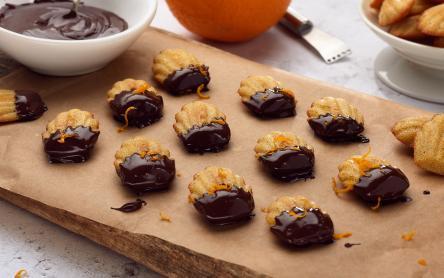 Narancsos étcsokoládés madeleine (francia aprósütemény) - laktózmentes recept