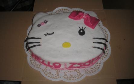 Hello Kitty-s szülinapi torta