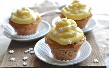Almás-vaníliás muffin