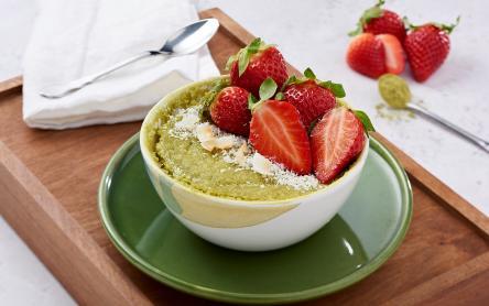 Zöld teás bögrés sütemény
