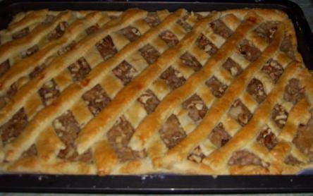 Diós-rácsos almás pite