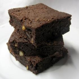 Mogyorós, csokis brownie