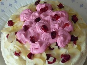 Aszalt áfonyás mascapone torta mákos piskótával