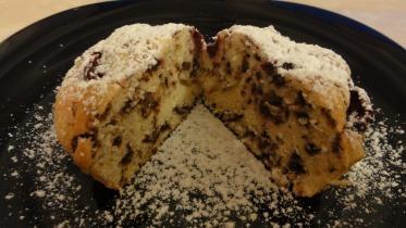 Meggyes - csokis muffin