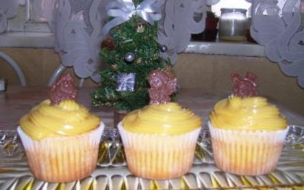 Karácsonyi karamellás cupcake