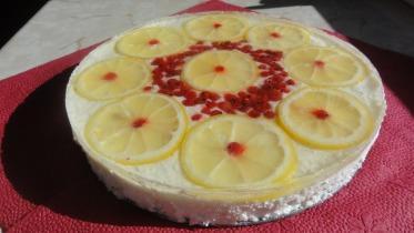 Sütés nélküli citromos túrótorta