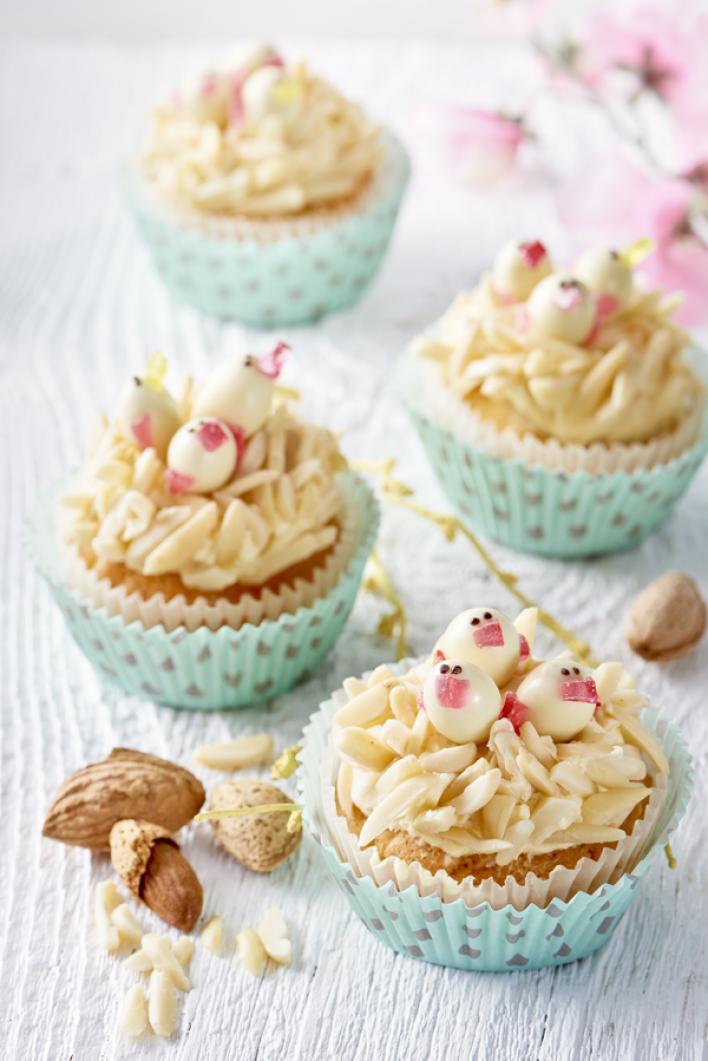 Húsvéti mandulás madárfióka muffin