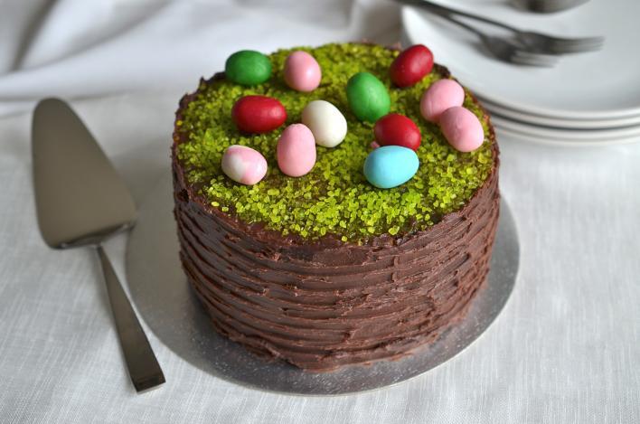 Húsvéti csokikrémes torta