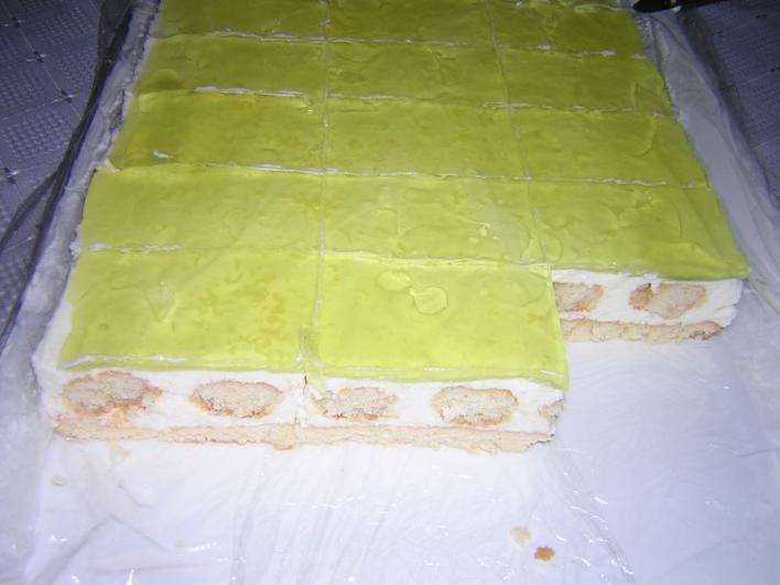 Mascarponés citromos szelet