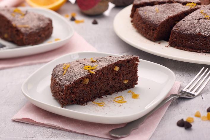 Céklás csokis sütemény kandírozott narancsdarabokkal - laktózmentes recept