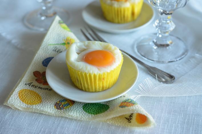 Sonkás-tojásos reggeli muffin