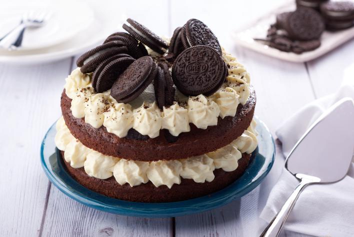 Csokoládé kekszes torta