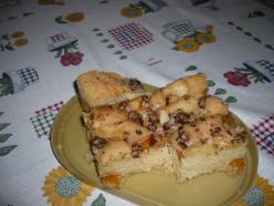 Aszalt sárgabarackos süti