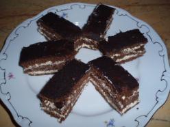 Citromkrémes, kakaós sütemény