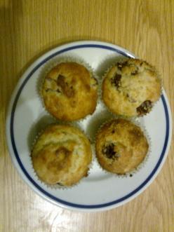 Túrós-meggyes muffin