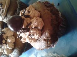 Csokis-meggyes tortácska
