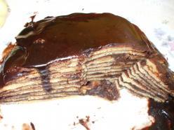 Csokipudinggal töltött amerikai palacsinta