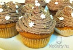 Diós-kakaókrémes muffin
