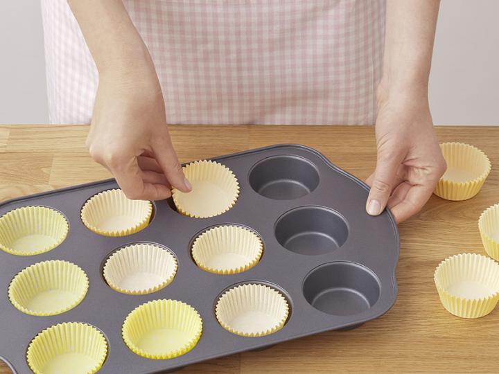 Húsvéti kiscsibe muffin elkészítés 1. lépés képe