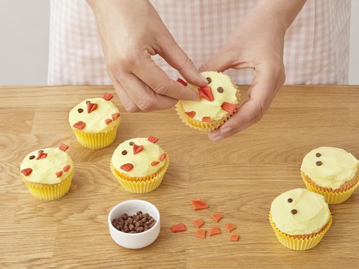 Húsvéti kiscsibe muffin elkészítés 11. lépés képe
