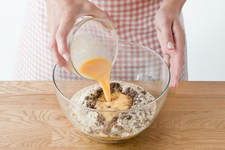 Csokis-mandulás karácsonyi kifli  elkészítés 3. lépés képe