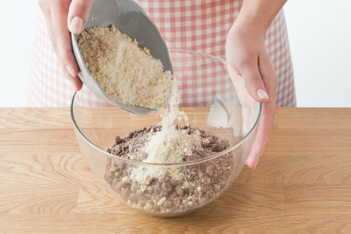 Csokis-mandulás karácsonyi kifli  elkészítés 2. lépés képe
