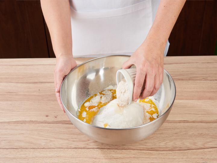 Húsvéti foszlós kalács elkészítés 2. lépés képe