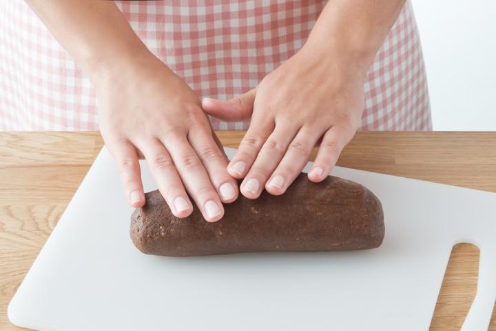 Csokis-mandulás karácsonyi kifli  elkészítés 4. lépés képe